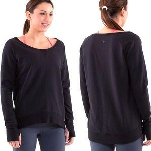 Lululemon Meditate Pullover Black w/Thumbholes